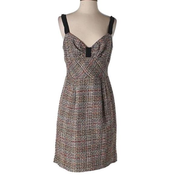 Trina Turk Dresses & Skirts - Trina Turk tweed multicolor sweetheart dress